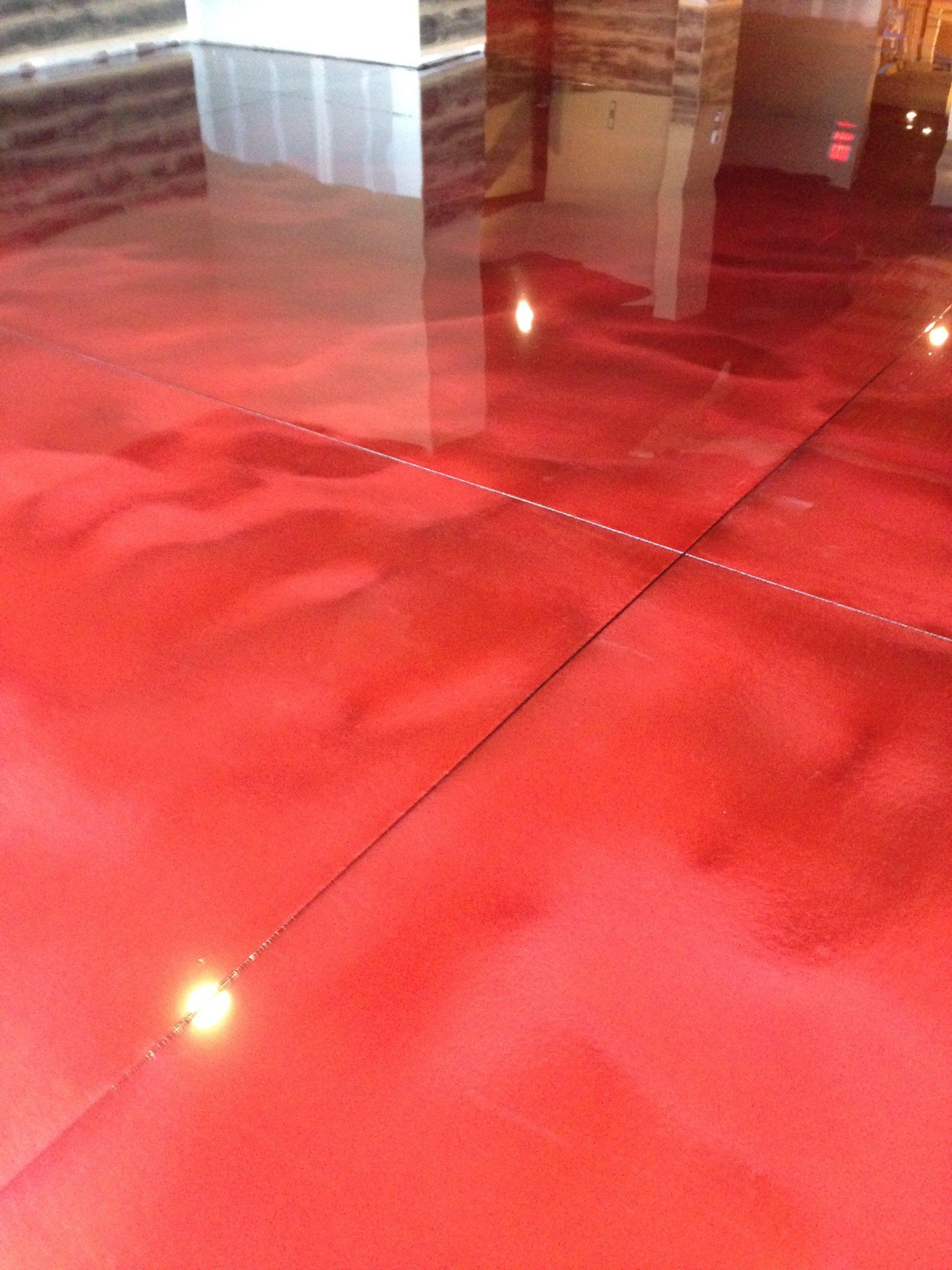 Metallic Red Designer Epoxy Flooring Garage Floor Epoxy Coatings With Metallic Epoxy Garage Floor Diy Metalli Garage Floor Epoxy Garage Floors Diy Diy Flooring