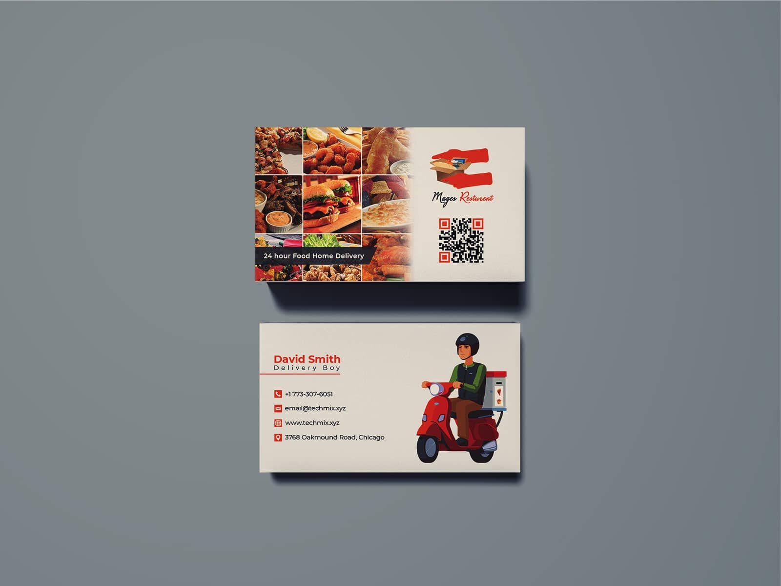 Food Delivery Business Card Restaurant Business Cards Food Delivery Business Spa Business Cards Design