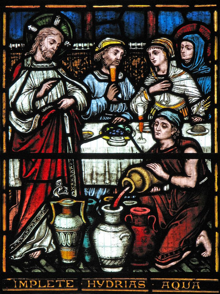 Wedding Feast At Cana Stained Glass Church Stained Glass Art Stained Glass
