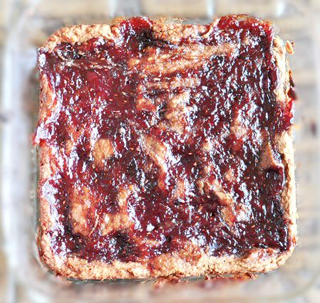 Peanut Butter and Jelly Blondies that are actually good for you!