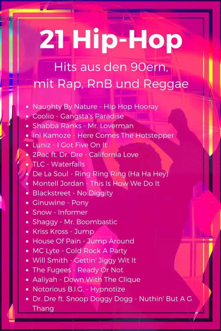 21 HipHop Hits der 90er Die besten HipHop, Rap und RnB