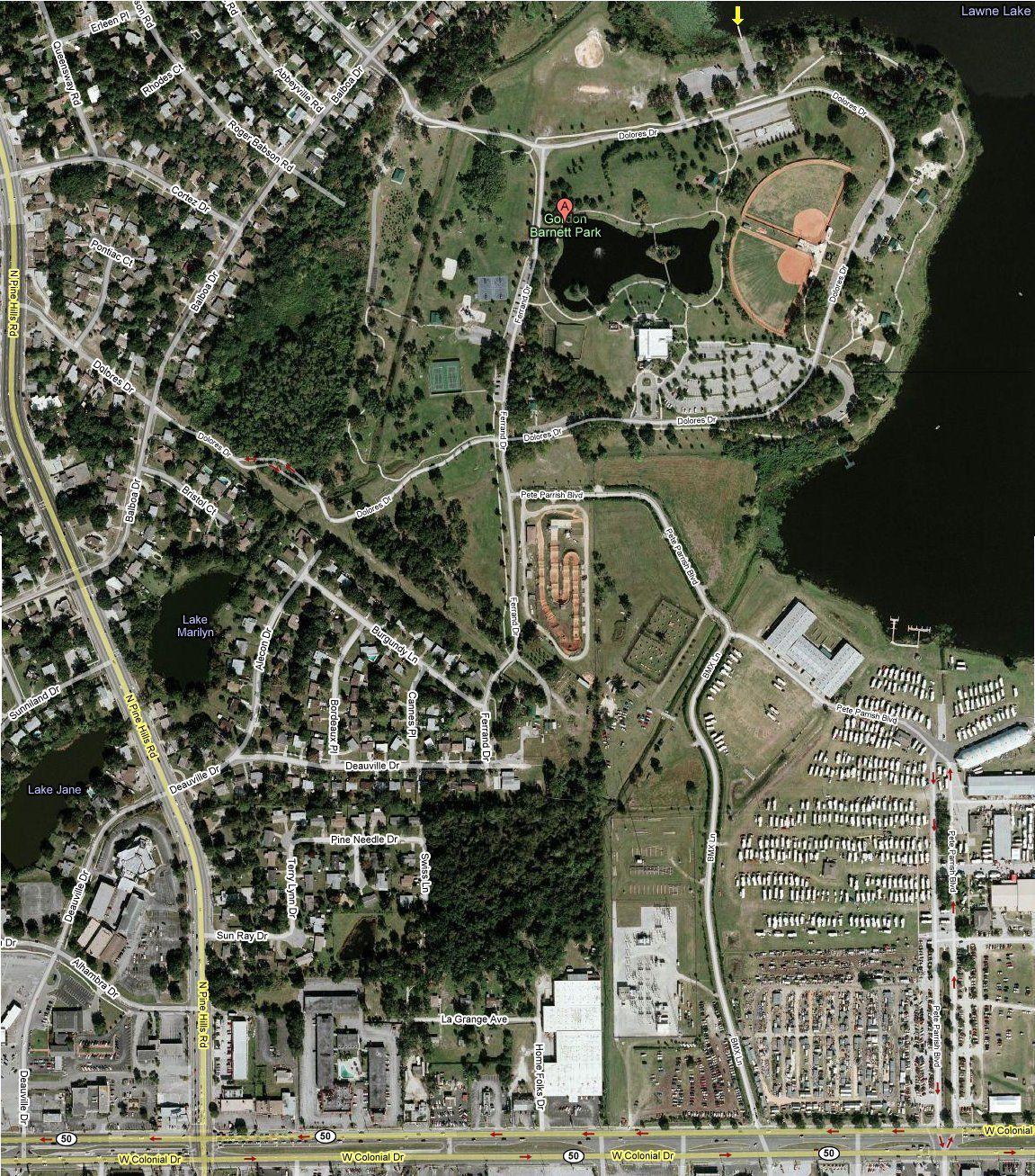 Aerial Maps Lake Lawne Satellite Map