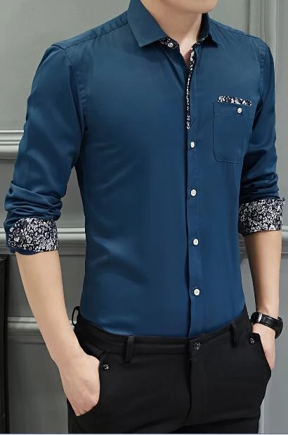 2018 Autumn New Men S Shirt Brand Luxury Men S Casual Long Sleeved