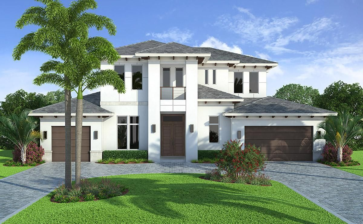 House Plan 207 00065 Florida Plan 4 532 Square Feet 4 Bedrooms 5 Bathrooms Caribbean Homes Florida House Plans House Plans