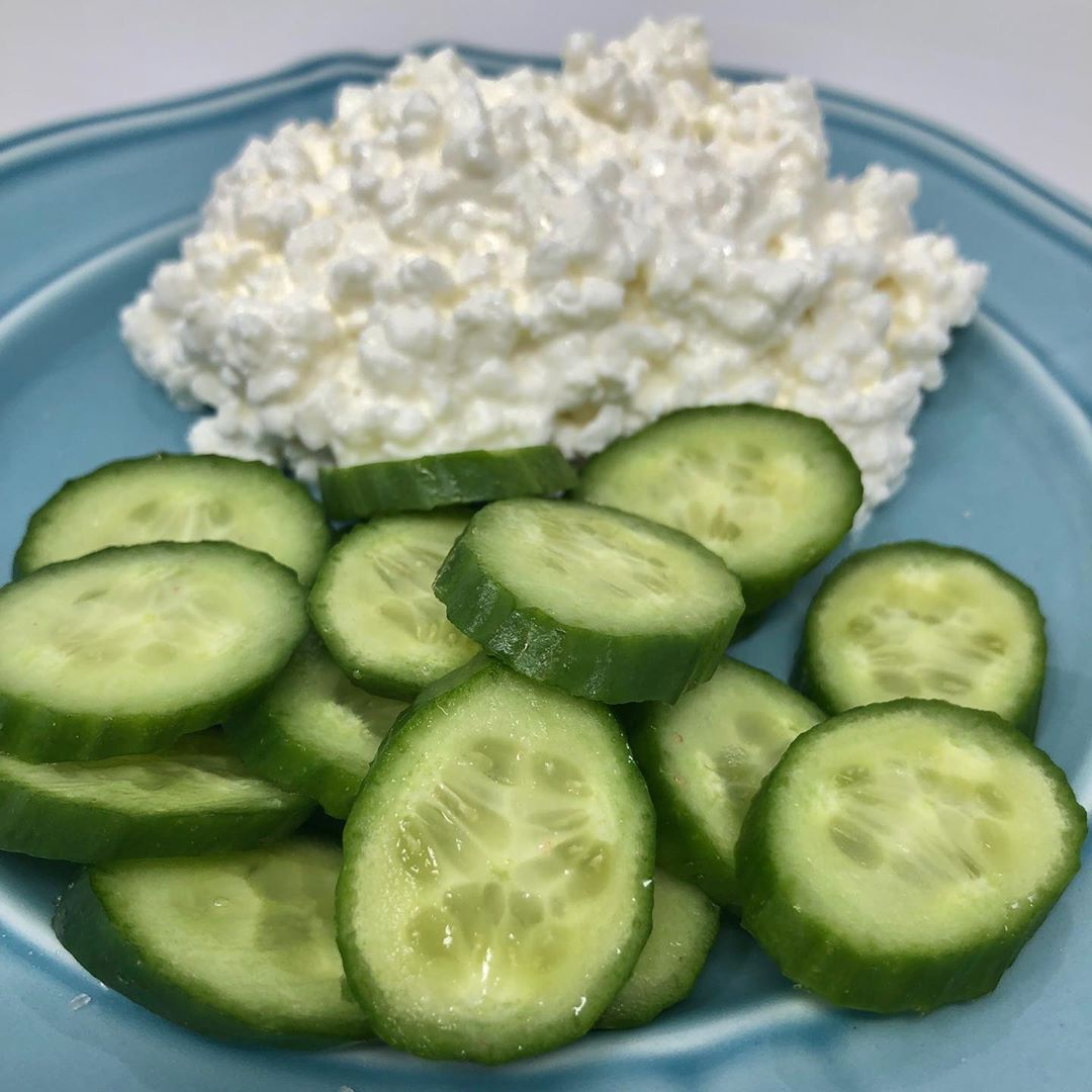 Cottage cheese and cucumber!  Looking for a quick snack with a good amount of protein?  This cottage...