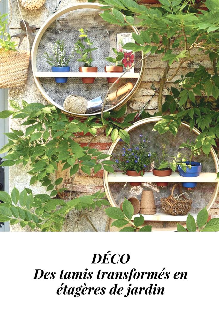 Marie Claire Maison Jardin Recup des tamis transformés en étagères de jardin | etagere jardin