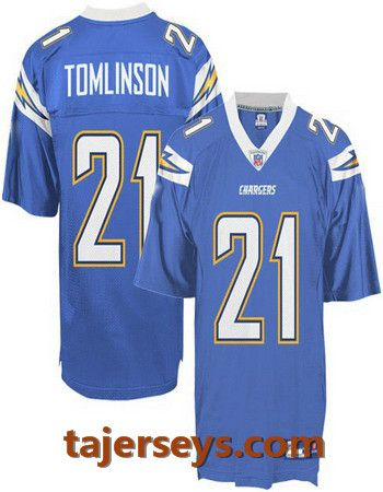 838204e81 San Diego Chargers 21  L.Tomlinson light blue jersey Price  18.5 ...