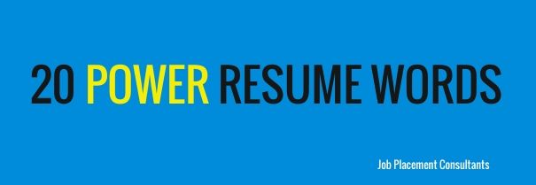 eye catching words for resume