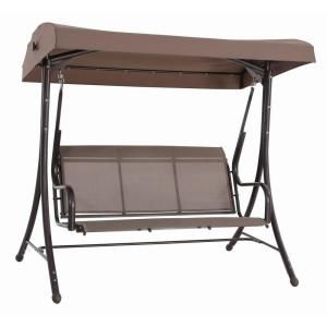 Steel Solar Lit Patio Swing Gss00005j At The Home Depot