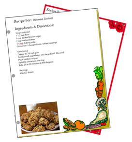 Types Of Free  X  Recipe Card Template There Is No Way To