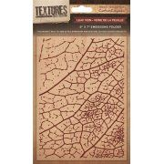 Crafters Companion Textures 5x7 Embossing Folders - Leaf Vein Embossing Folder