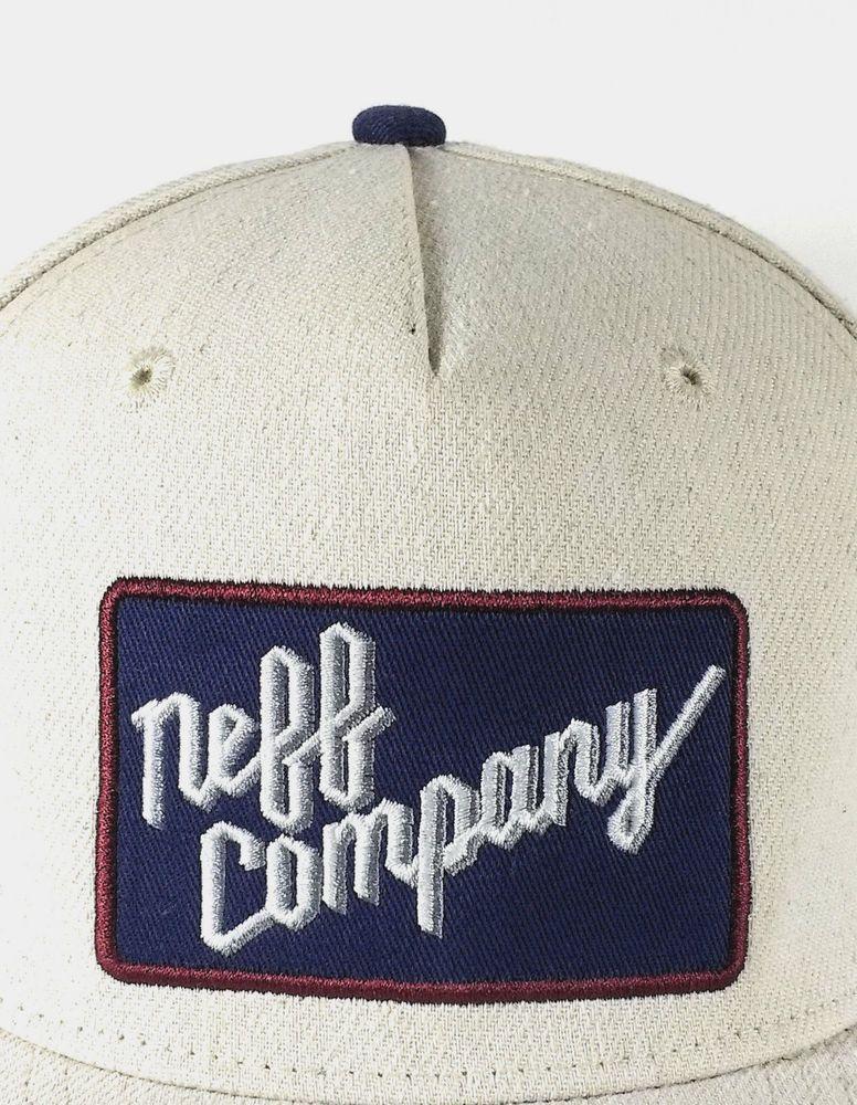 Neff Company Logo Baseball Style Hat Cap Beige  Neff  BaseballCap ... 5c39eb3989e4