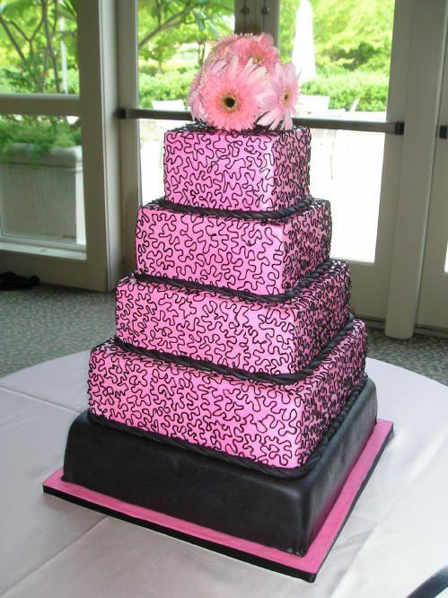 black and pink wedding dresses Wedding Boston Pinterest
