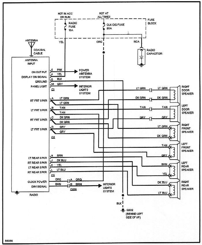 buick stereo wiring diagram  clifford cyber wiring diagram