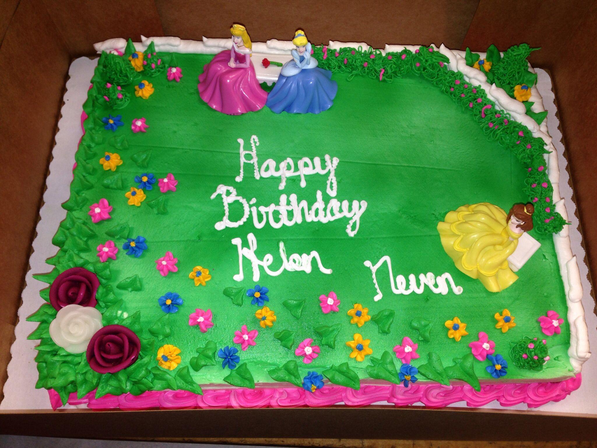 Disney princess sheet cake Lalobas home bakery Pinterest