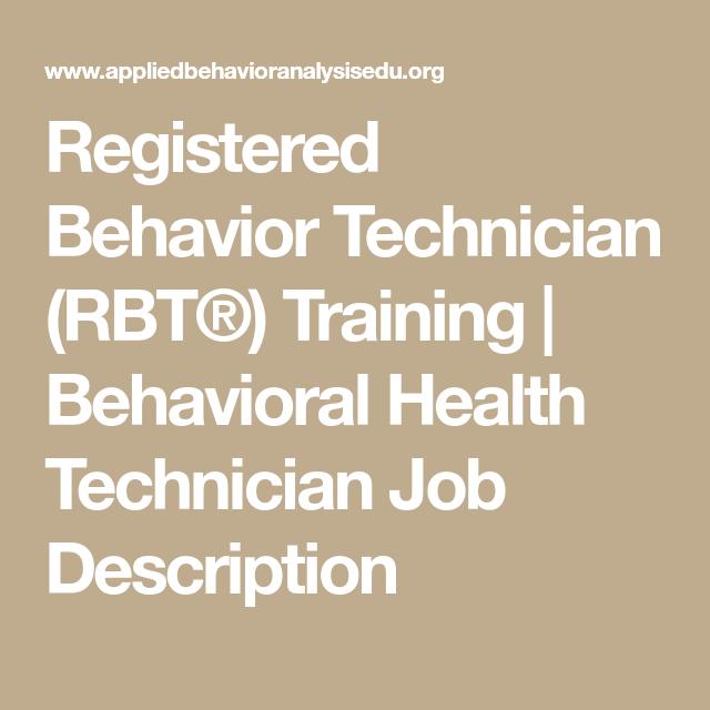 Registered Behavior Technician (RBT®) Training ...