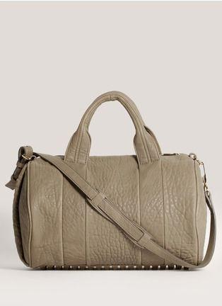 Alexander Wang - Rocco studded leather duffle top-handle bag | Grey Day Shoulder Bags | Womenswear | Lane Crawford - Shop Designer Brands Online