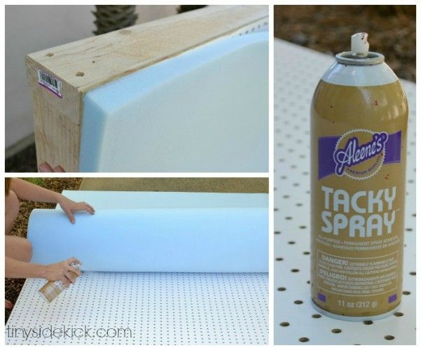 attaching the foam to the headboard frame