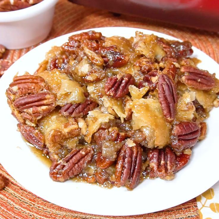 Dixie's Pecan Pie Cobbler is part of Pecan pie cobbler - Pecan Pie Cobbler takes pecan pie to the next level  The bottom crust is topped with a delicious pecan custard, another crust and more pecans