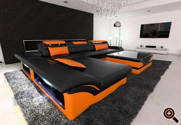 designer couch ? modernes sofa fürs wohnzimmer aus leder in weiß ... - Moderne Wohnzimmer Schwarz Weiss