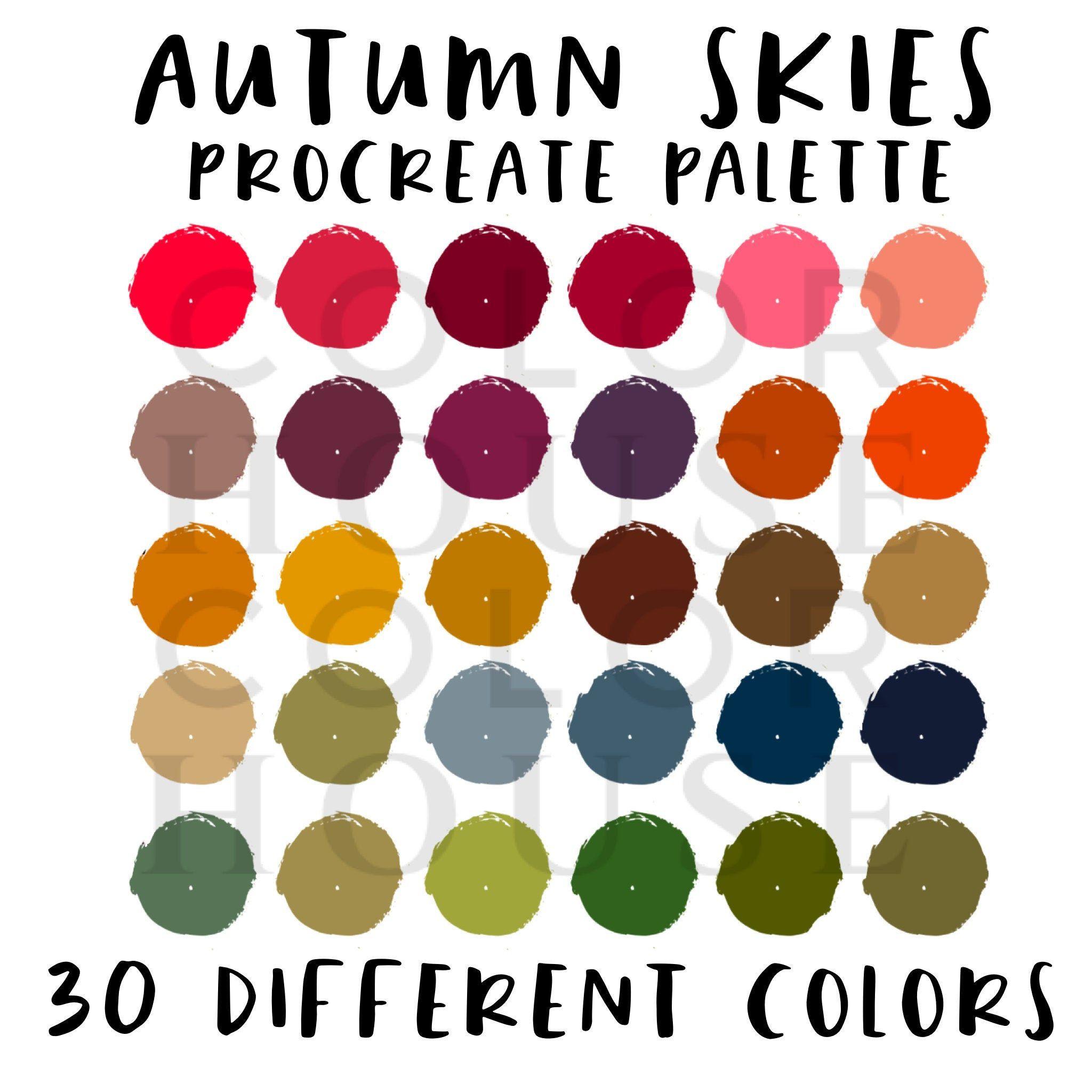 Autumn Skies Procreate Color Palette