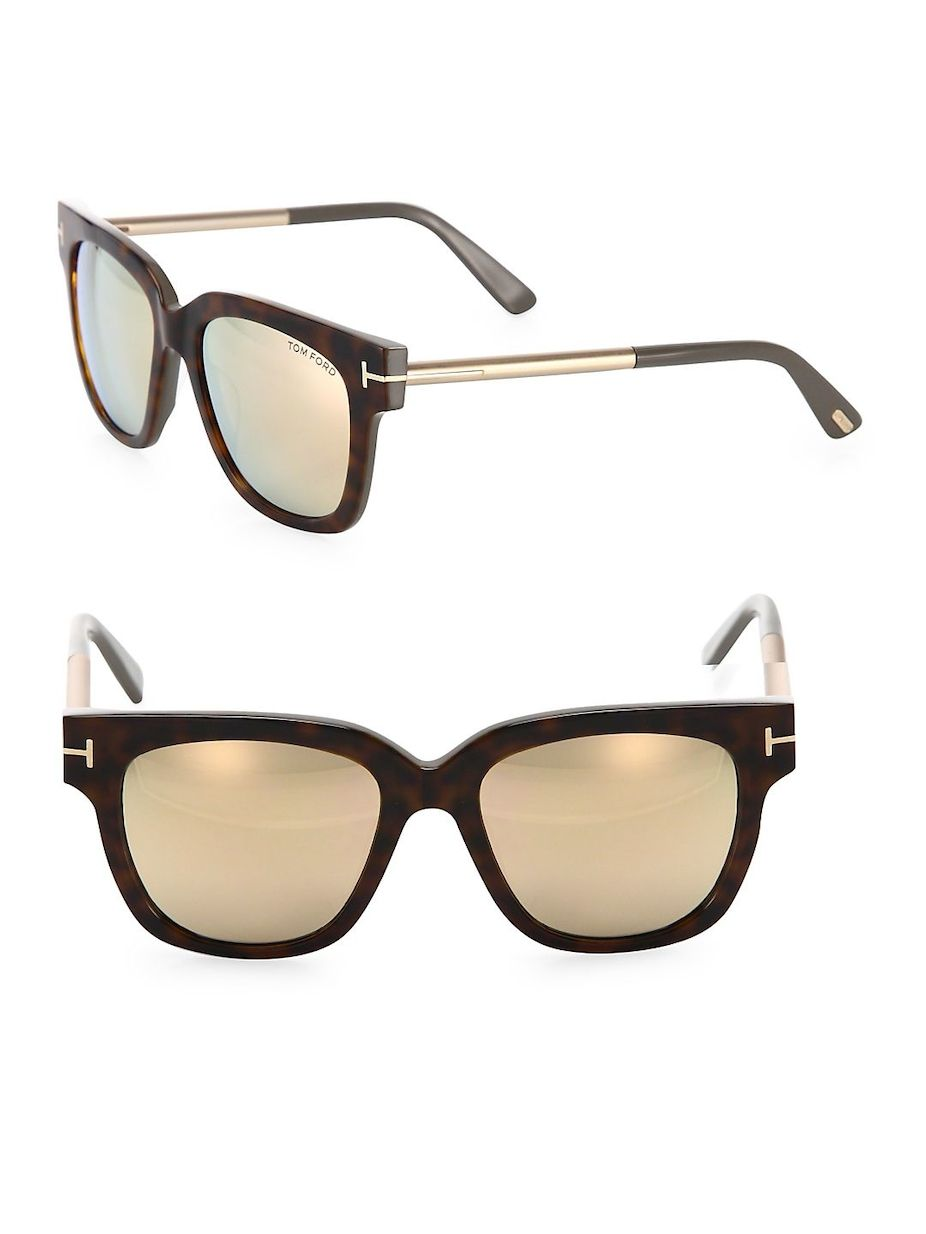 48b0aba2ad Tom Ford Tracy 53MM Mirrored Soft Square Sunglasses