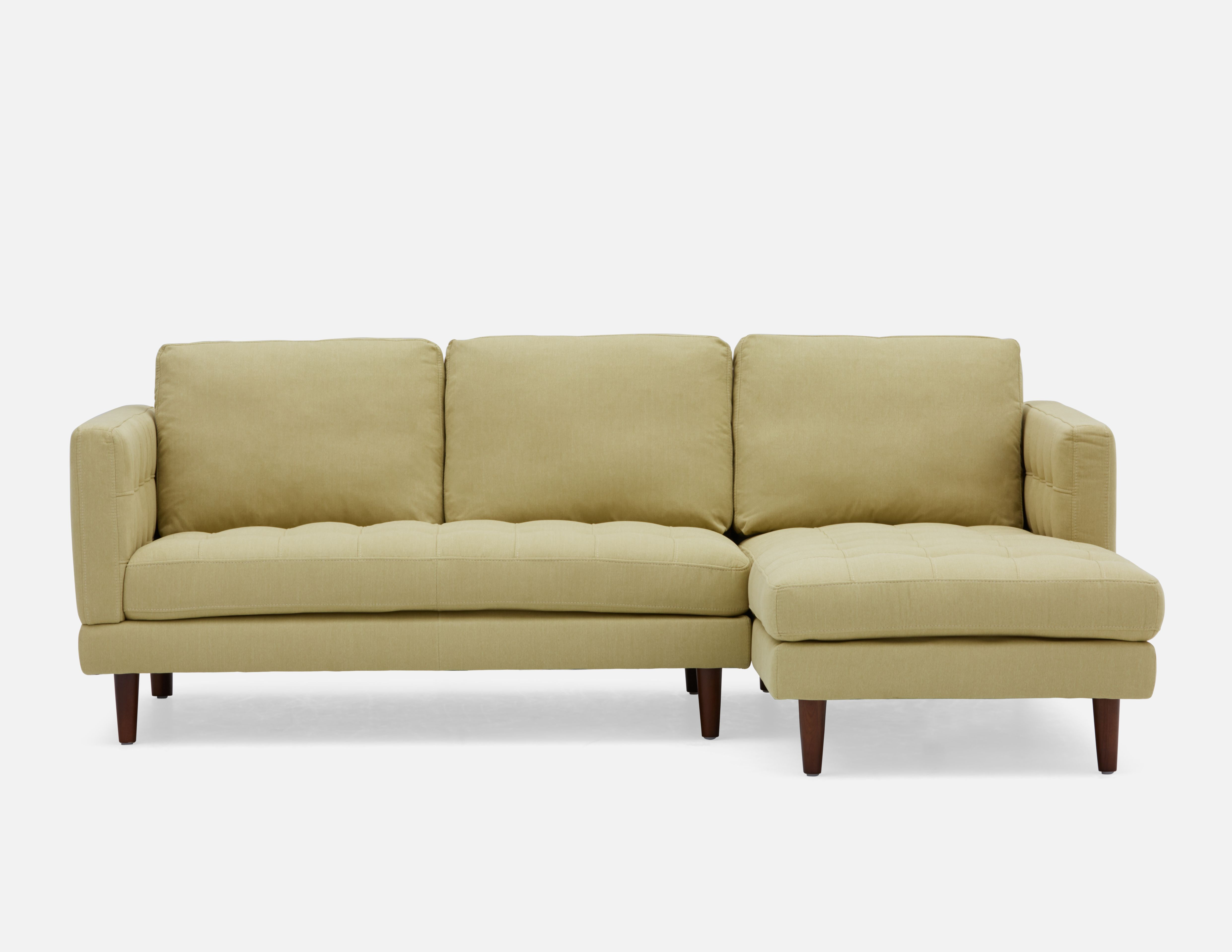 Simpson Light Green Right Facing Sectional Sofa Structu