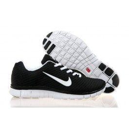 Nike Free 5.0 Woven Schwarz Weiß Männer
