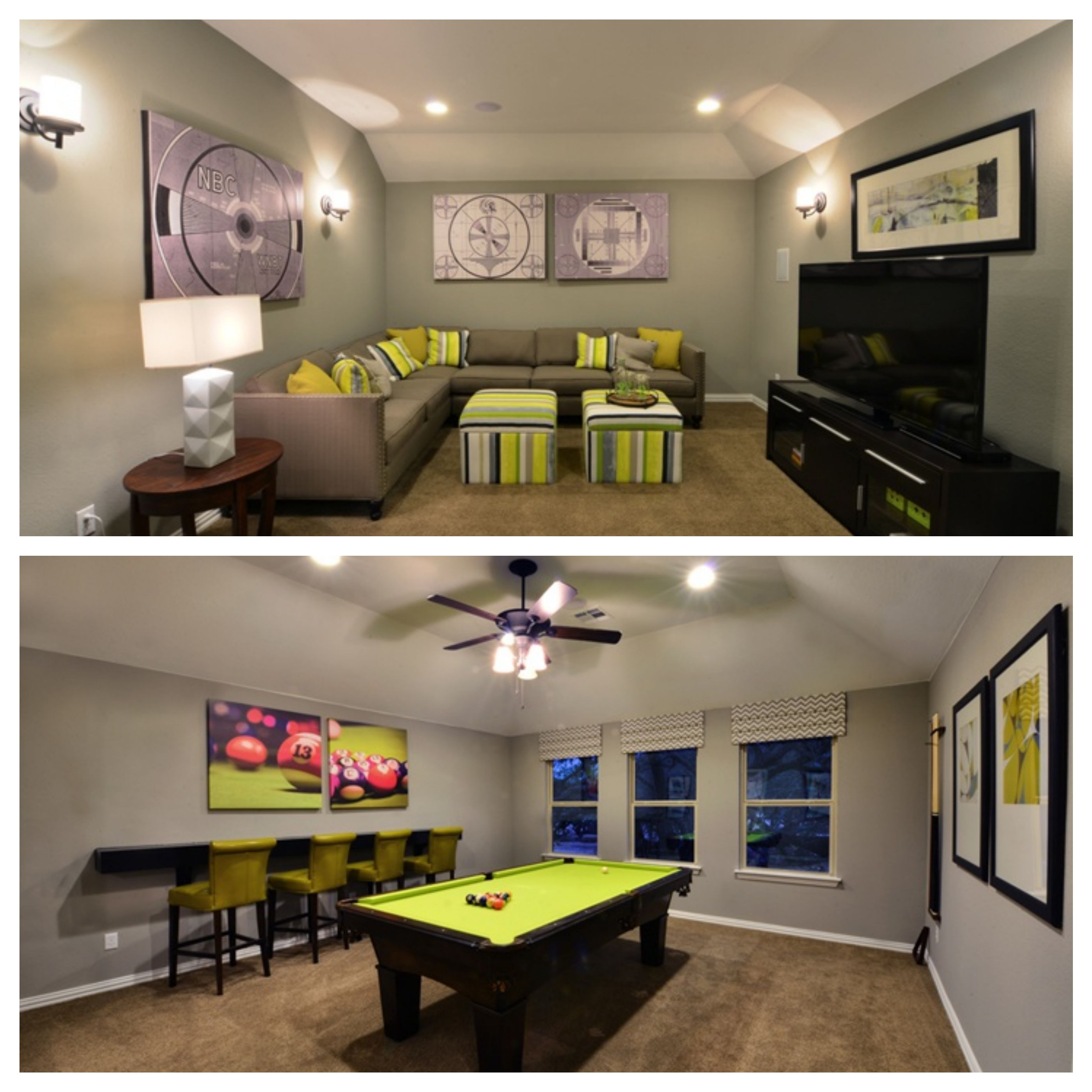 A media room AND a game room in Reserve at Caballo Ranch from ...