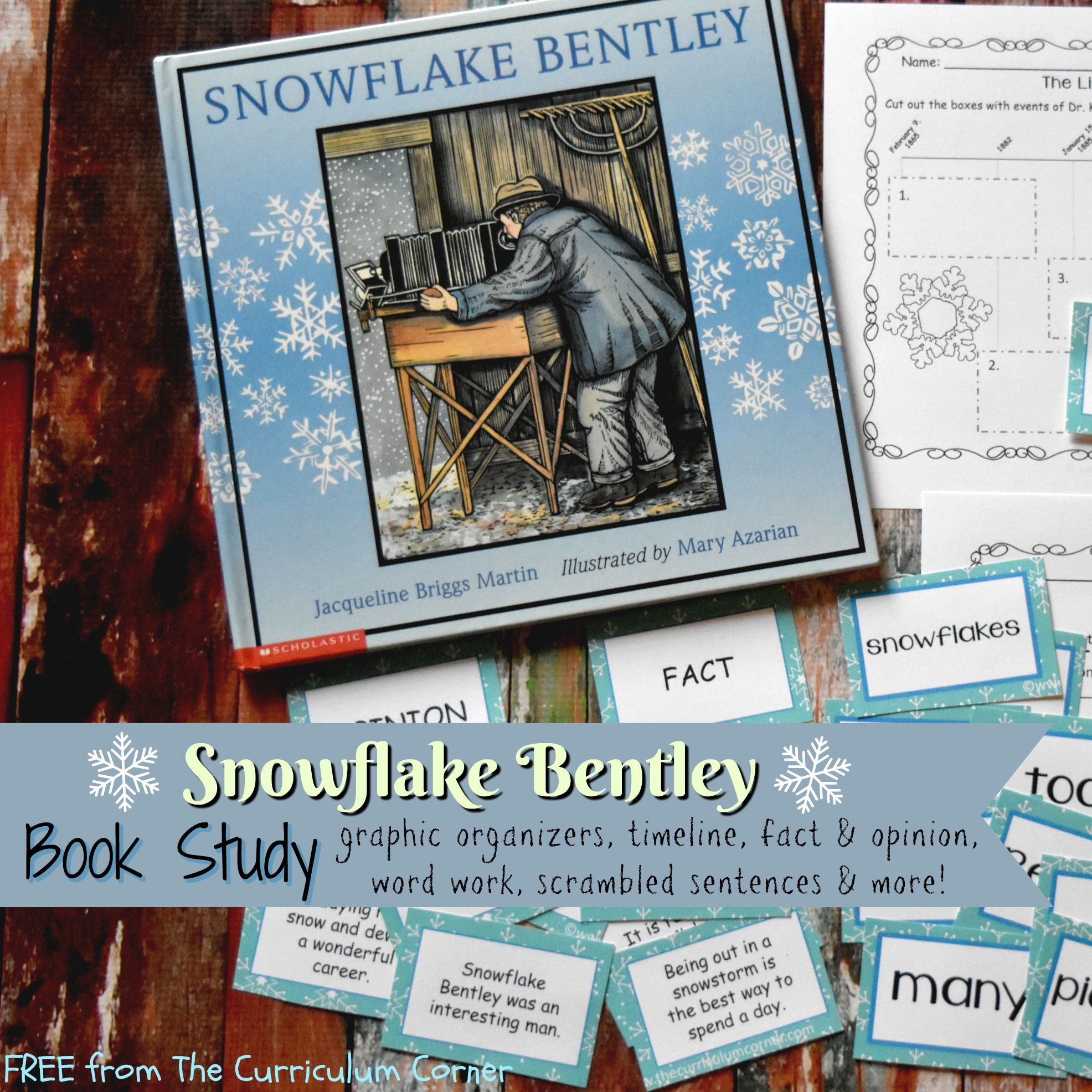 Book Study Snowflake Bentley