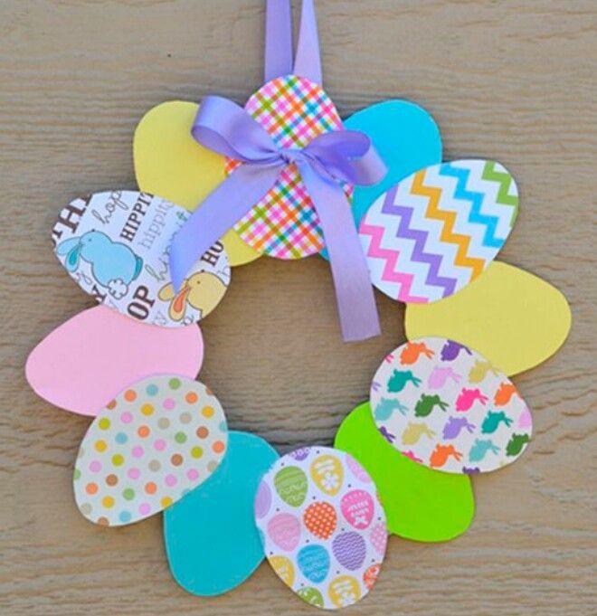 da2eea102 veľkonočný veniec z papiera | Veľkonočné dekorácie - nápady | Easy ...