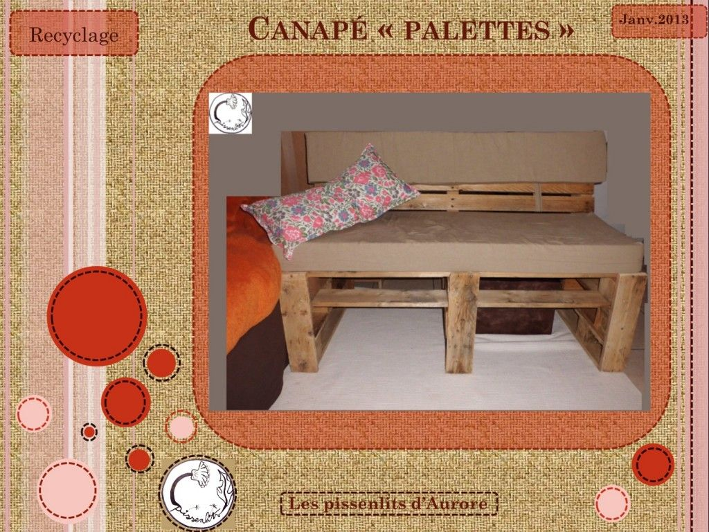 tuto canap palettes pallet pinterest pallet. Black Bedroom Furniture Sets. Home Design Ideas