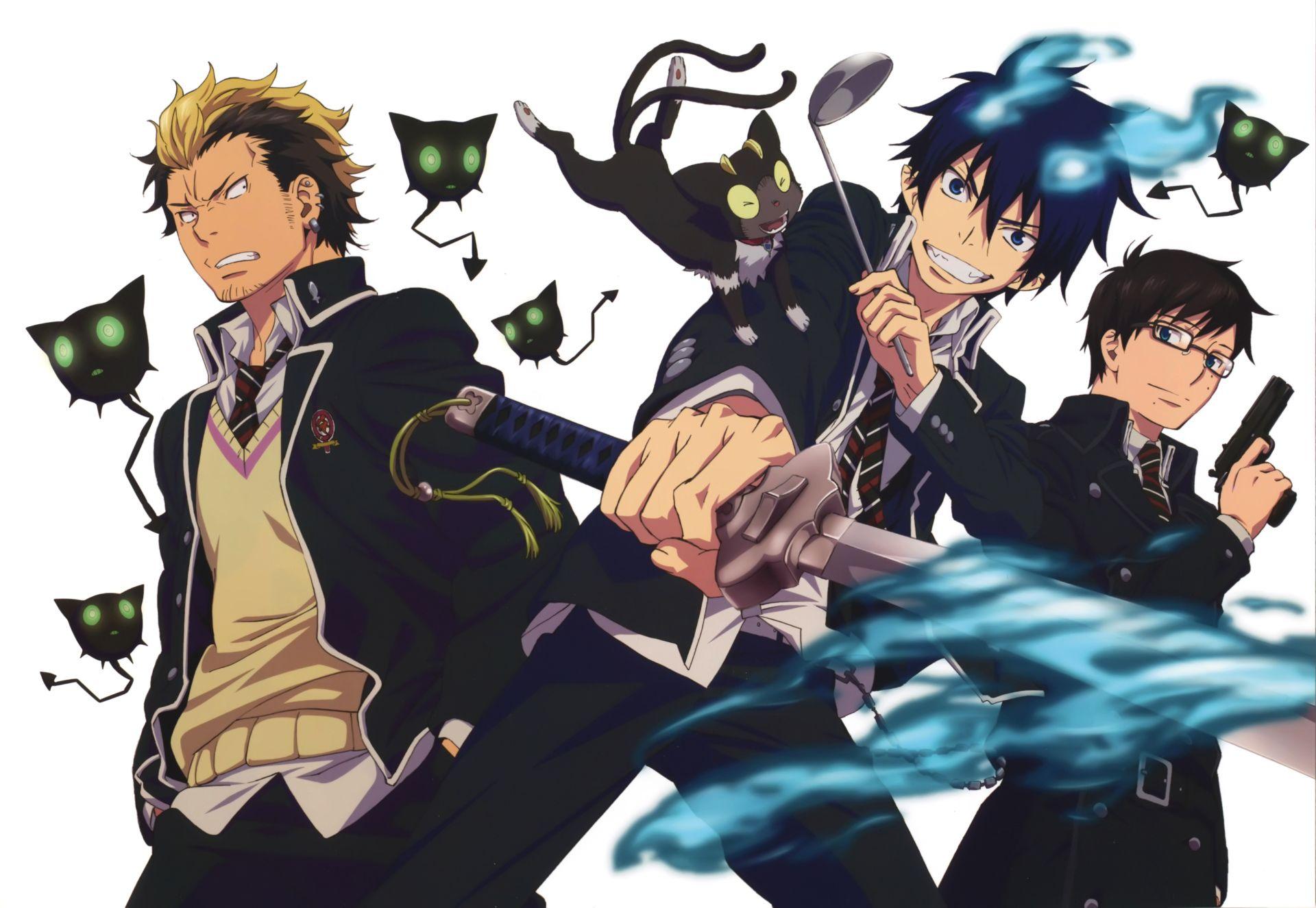 Anime Blue Exorcist Ryuji Suguro Ao No Exorcist Rin Okumura Yukio