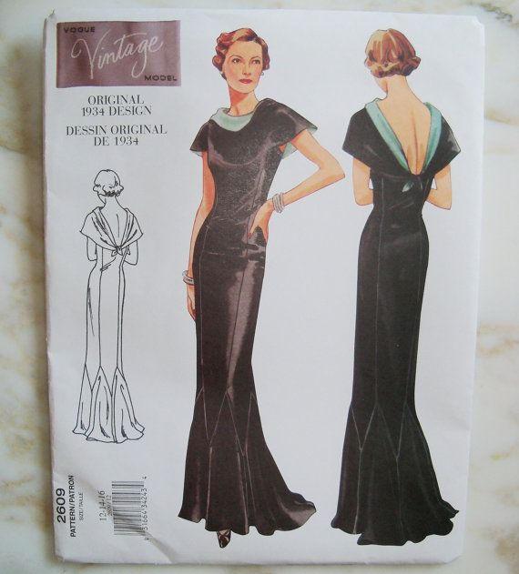 1930s Vogue Vintage Sewing Pattern | moda/anos fantásticos ...