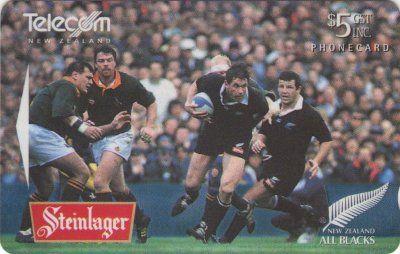New Zealand Phonecards Steinlager All Blacks