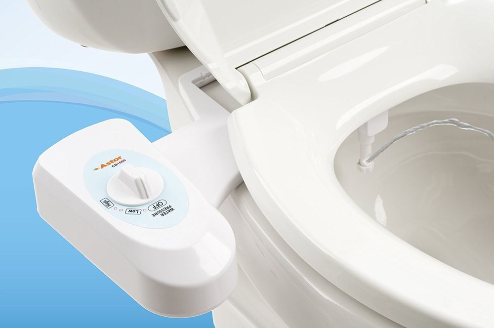 Astor Bidet Fresh Water Spray Non Electric Mechanical Bidet Toilet