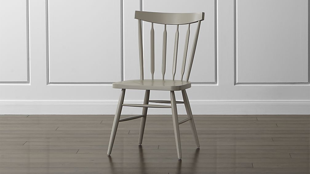 Willa Dove Wood Dining Chair Crate And Barrel Would Be Great In