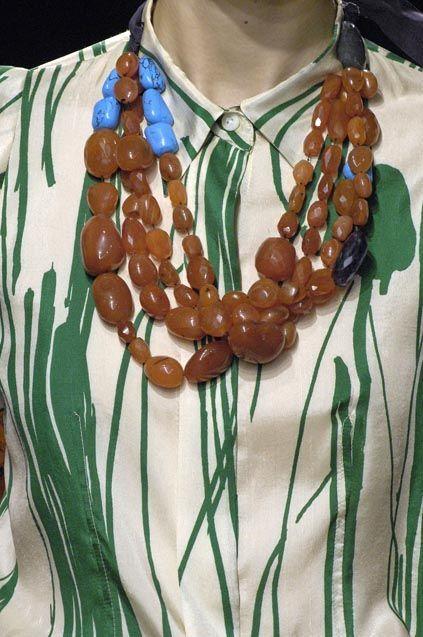 dries van noten necklace + shirt