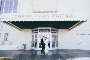 Downtown Omaha Winter Wedding Featuring Kountze Memorial Church, The Durham Museum and The Hilton Omaha