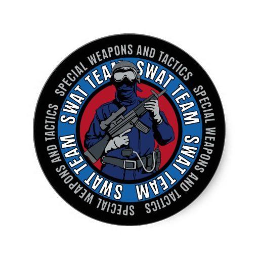 Swat Team Classic Round Sticker Zazzle Com With Images Swat