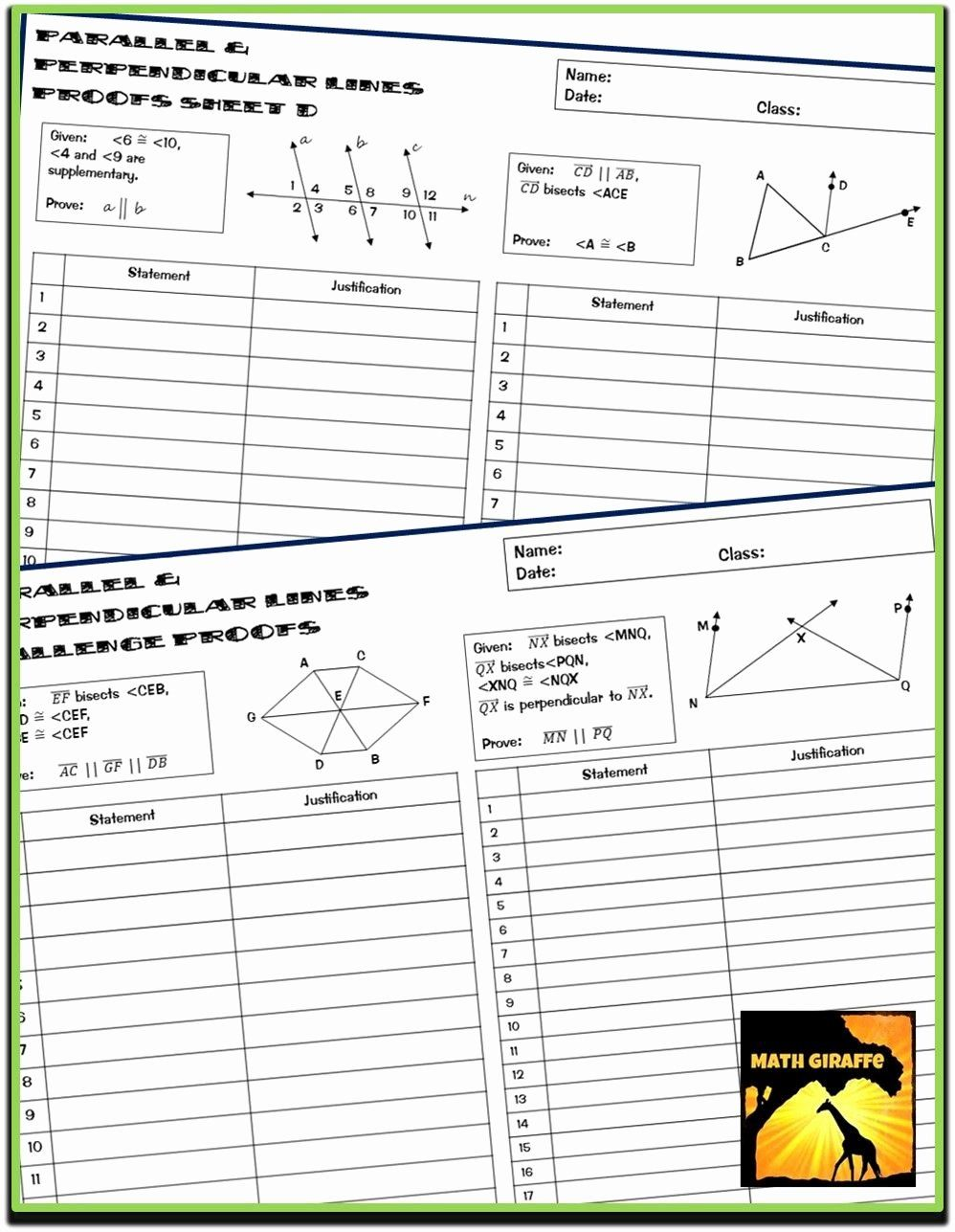 Algebraic Proofs Worksheet With Answers Awesome Algebraic Proofs Worksheet Do In 2020 Algebraic Proof Parallel And Perpendicular Lines Subject And Predicate Worksheets