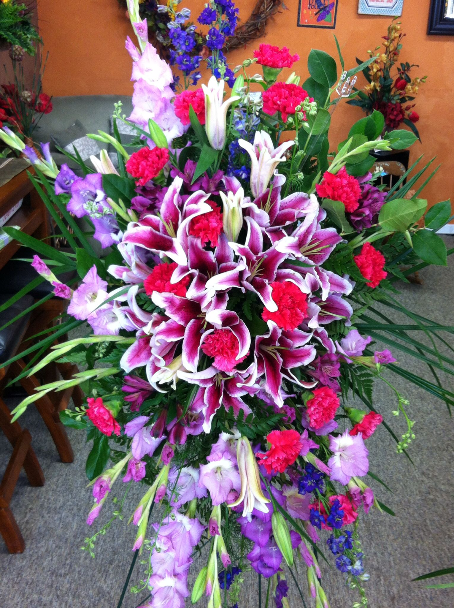 Funeral spray funeral sprays floral shop floral wreath