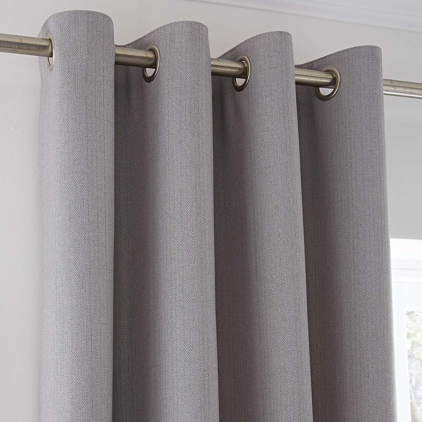 40a83a39f0b £85 - Hayden Grey Lined Eyelet Curtains