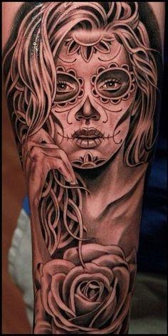 Tatuajes De Catrinas Para Mujeres 4 Más Tattoos Sugar Skull