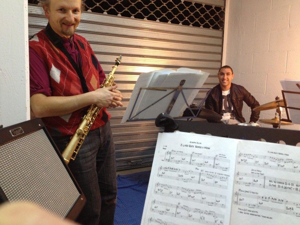 Vincenzo Antonicelli (sax) with Marco Carluccio (drums)