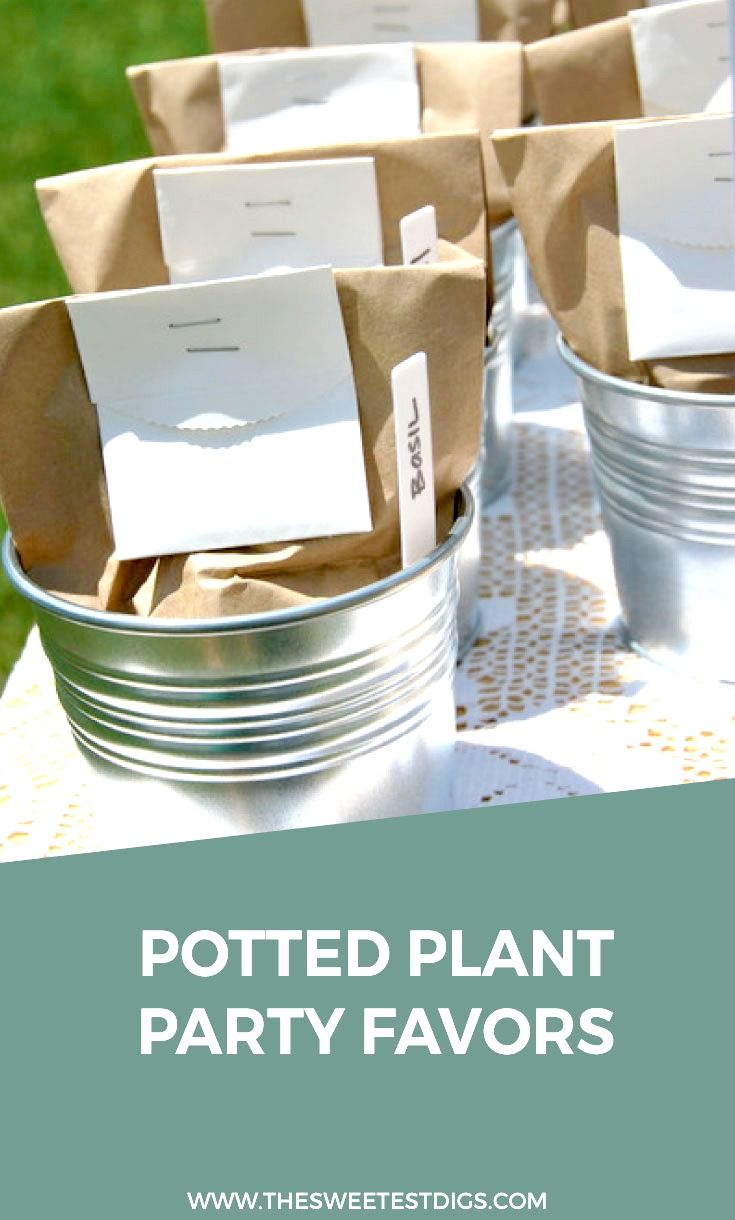 How To Make Plant Seed Party Favors. Baby Shower ...