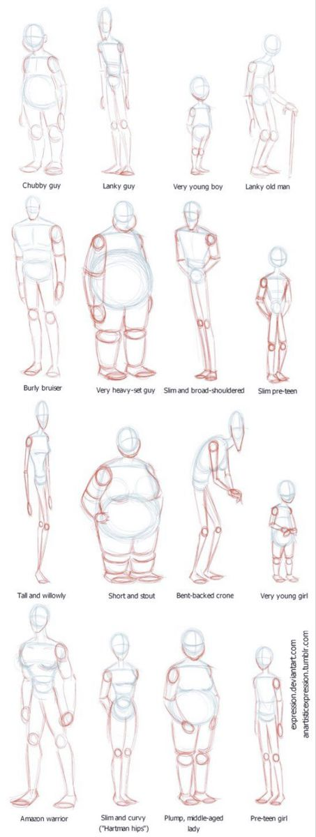HOW TO DRAW BODY SHAPES: 30 Tutorials For Beginners – Bored Art