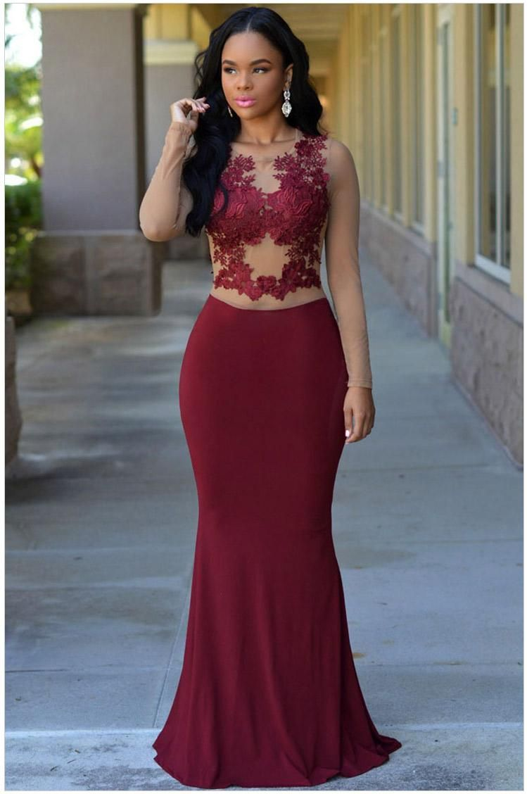 Dark Burgundy Prom Dresses