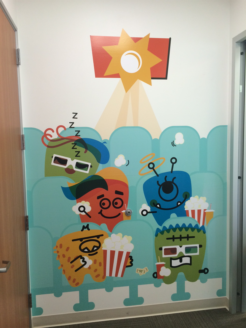 Movie Themed Wall Decals Pediatric Dentist on Behance