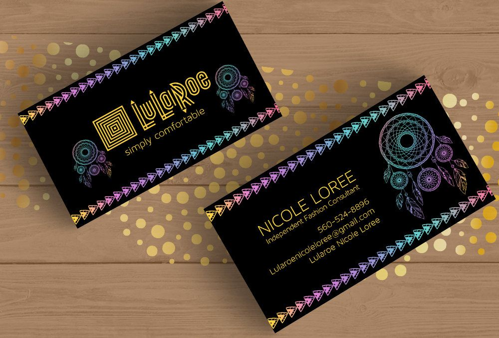 Lularoe Dreamcatcher Business Card Template Layered PSD No - Office business card template